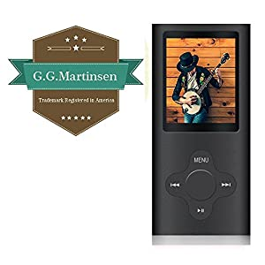 G.G.Martinsen Black Stylish MP3/MP4 Player with a 16GB Micro SD card, Support Photo Viewer, Recorder & Radio, Mini USB Port 1.8 LCD, Digital Music Player, Media/ Video Player, MP3 Player, MP4 Player