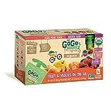 GoGo SqueeZ Fruit & Veggiez Organic Variety Pack (16 Count Variety)