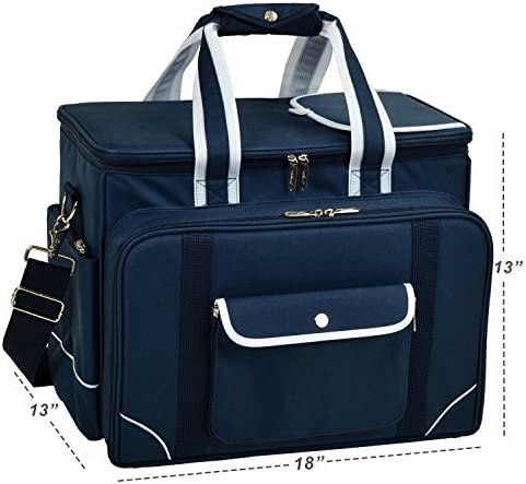 Picnic at Ascot- Original Insulated Picnic Cooler with Service for 4 – Designed Assembled in the USA