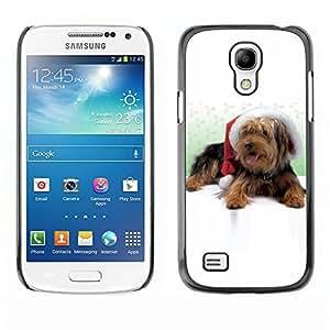 YOYO Slim PC / Aluminium Case Cover Armor Shell Portection //Christmas Holiday Cute Holiday Dog Puppy 1174 //Samsung Galaxy S4 Mini