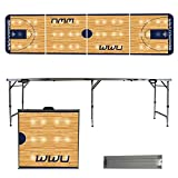 NCAA Western Washington University Vikings Basketball Court Version Folding Tailgate Table, 8'