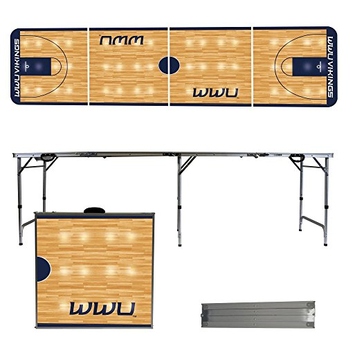 NCAA Western Washington University Vikings Basketball Court Version Folding Tailgate Table, 8' by Victory Tailgate