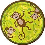 Creative Converting Monkeyin' Around Round Dessert Plates, 8 Count