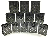 Style Design (TM) Dozen Gift Bags - 12 Beautiful Large Kraft Gift Bags for Presents, Parties or Any Occasion With Hot Stamp (Medium, Black and Silver)