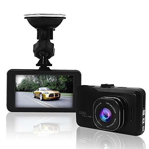 Dash Cam, Car Camera Recorder, Full HD 1080P Dash Camera, soled 170° Viewing Angle Car DVR, Car Dash Camera with Night Vision, WDR, Loop Recording, G-Sensor, Parking Mode, Motion Detection