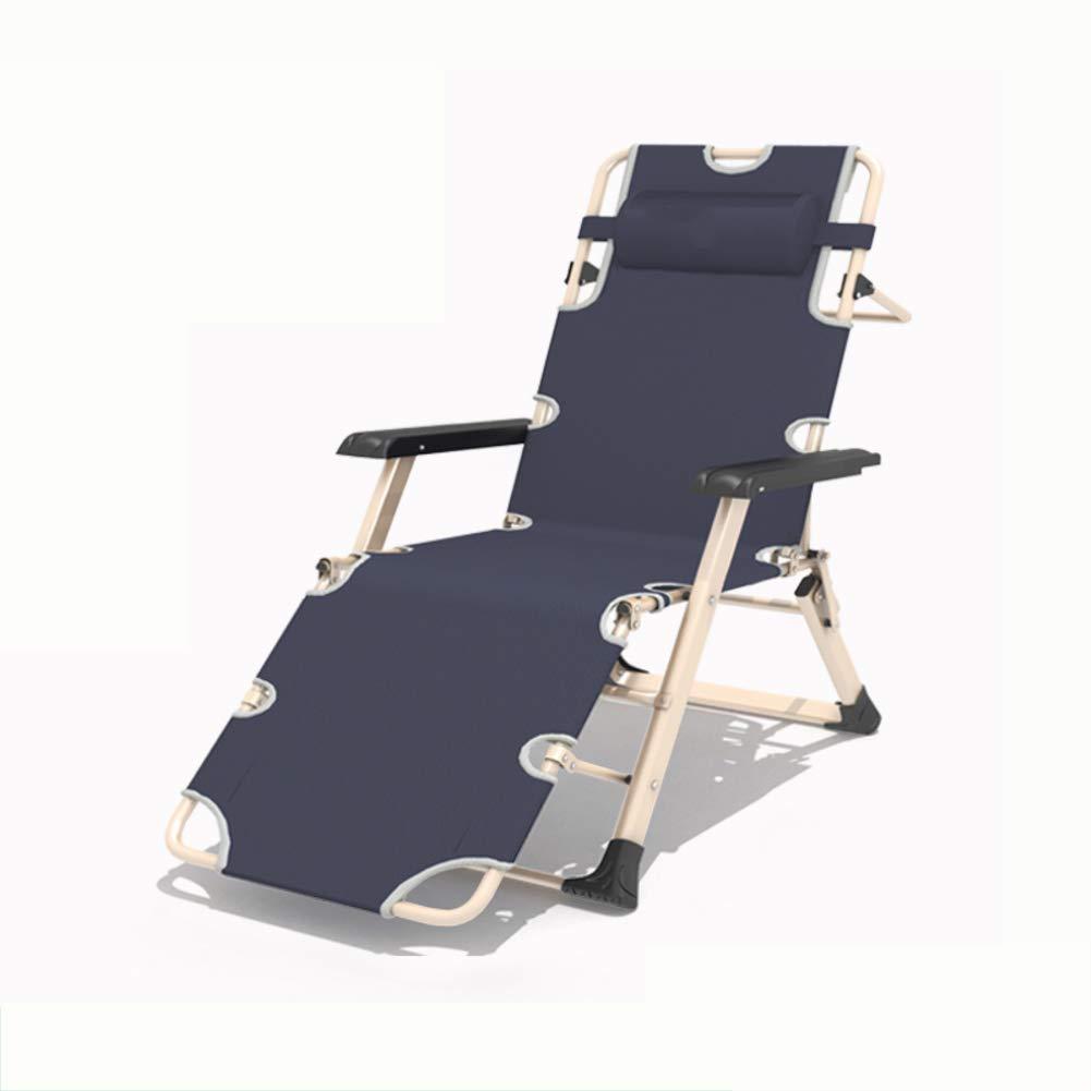 式 ラウンジチェア 寝椅子, リクライニングチェア 無重力の椅子 サンラウン ジャー ヘッドレストと アームレスト テラス 庭 キャンプ ビーチ 屋外 68x185x25cm(27x73x10inch) M B07PVSNJN2