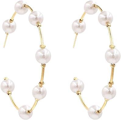 For Her Teardrop Earrings Pearl Earrings Cute Gift Idea Silver Earrings Natural Pearls Silver Plated Boho Jewelry Large Earrings