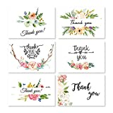 48 Pcs Floral Thank You Cards for Wedding, Bridal Party, Baby Shower, Thanksgiving, Blank Thank U Cards with Envelopes (Style 3)