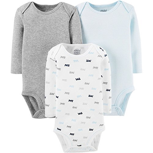Child of Mine by Carters Long Sleeve Bodysuits Baby Boy (6-12 months) ()