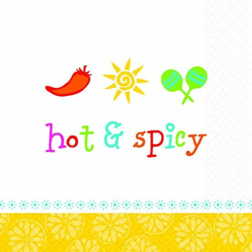 Napkins Peppers Fiesta Lunch - Hot & Spicy Party Beverage Napkins, 16 Ct.