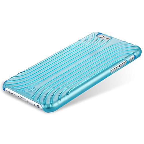 Baseus Premium Hard Shell Case Transparent/Ultra Fin/slim/Coque de protection pour Apple iPhone 6& 6S dans bleu transparent