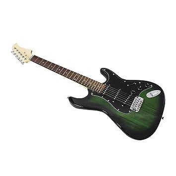 39 Pulgadas 6 Cuerdas Guitarra Eléctrica Diapasón de Palisandro ...
