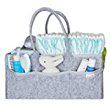 Putska Baby Diaper Caddy Organizer - Gift Registry for Baby Shower, Nursery Organizer, Neutral Baby Gift Basket, Changing Table Organizer (Diaper Caddy)