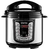 Gourmia GPC400 4 Qt Digital Multi-Mode SmartPot Pressure Cooker | 13 Cook Modes | Removable Pot | 24-Hour Delay Timer | Automatic Keep Warm | LCD Display | Pressure Sensor Lid Lock | Recipe Book