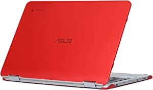 mCover iPearl Hard Shell Case for 12.5-inch ASUS Chromebook Flip C302CA Series Laptop - Red