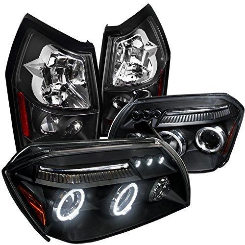 Magnum Se/Sxt Black Dual Halo Led Projector Headlight+Rear Tail - Dodge 2005 Sxt Magnum