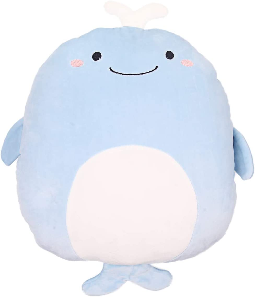 Soft Whale Plush Hugging Pillow Cute Stuffed Animal Toy Kids Gifts for Birthday, Valentine, Christmas (Whale)