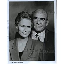 1991 Press Photo Sharon Gless and Edward Asner in The Trials of Rosie O'Neill.