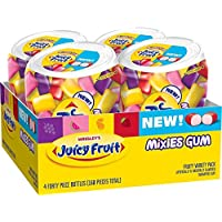 Deals on 4-Pk Juicy Fruit Gum Mixies Fruity Chews Sugarfree Bottle 40-Ct