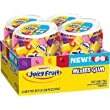 Juicy Fruit Gum Mixies Fruity Chews Sugarfree Bottle, 40 Count (Pack of 4)