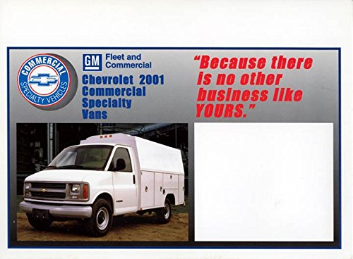 Chevrolet Cargo Vans (2001 Chevrolet Express Cargo Van ORIGINAL Large Factory Postcard)