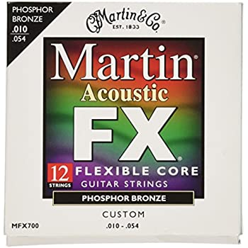 Martin MFX700 Phosphor Bronze 12 String Acoustic Guitar Strings , Custom Gauge