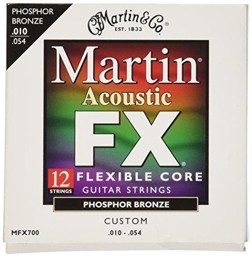 Martin MFX700 Phosphor Bronze 12 String Acoustic Guitar Strings , Custom Gauge (Best Twelve String Guitar)