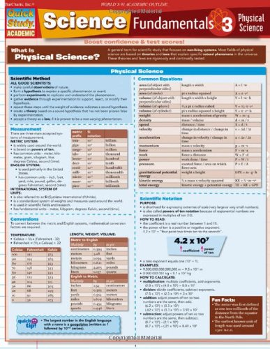 Science Fundamentals 3 Physical Science (Quick Study Academic)