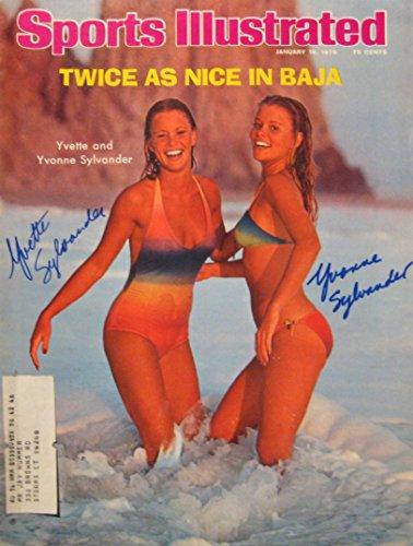 - Yvonne & Yvette Sylvander SI SWIMSUIT MODELS autographed Sports Illustrated magazine 1/19/76