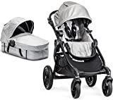 Baby Jogger City Select Black Frame Stroller w/ Bassinet Kit, Silver – 2014