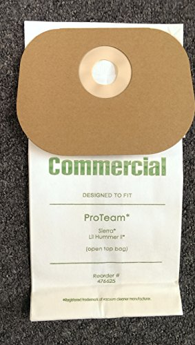 20 Commercial Vacuum Cleaner Allergy Bag ProTeam 103227, 56002 Model Sierra, Speedster 600 Backpack, Hawk Breeze, Lil' Hummer II (Model Sierra)
