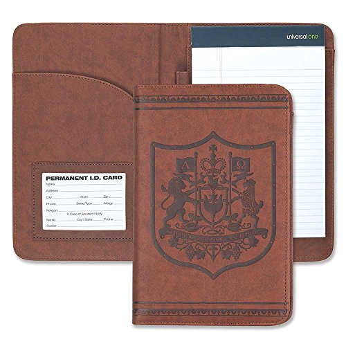 Version King Arms (Way Truth Life Christian Coat of Arms 6 x 9 Inch Leatherette Portfolio with Notepad)