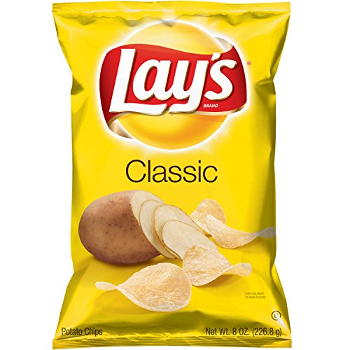 Lay's Classic Potato Chips, 8 Ounce - Classic Potato Chips Lays