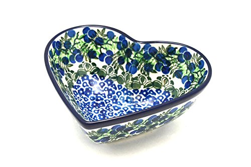 Polish Pottery Bowl - Deep Heart - Huckleberry