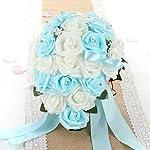 vLoveLife-Wedding-Bouquet-Mix-White-Turquoise-Blue-PE-Rose-Flowers-Bridal-Bridesmaid-Bouquets-Artificial-Flower-Satin-Ribbon-Decor-Handmade-Posy-Pearl-Rhinestone-Plant-Leaf-Vine-Decor
