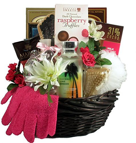 Mulberry Lane, Spa and Chocolate Basket by Organic Stores
