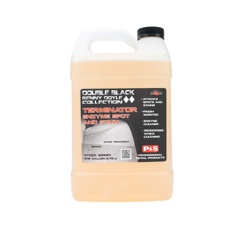 P&S Detailing Products - Terminator Enzyme Spot and Stain Remover - Perfect for Attacking and Removing Embedded Soils, Grease, Dirt and Protein Based Stains; Deodorizes; Fresh Scent (1 Gallon)