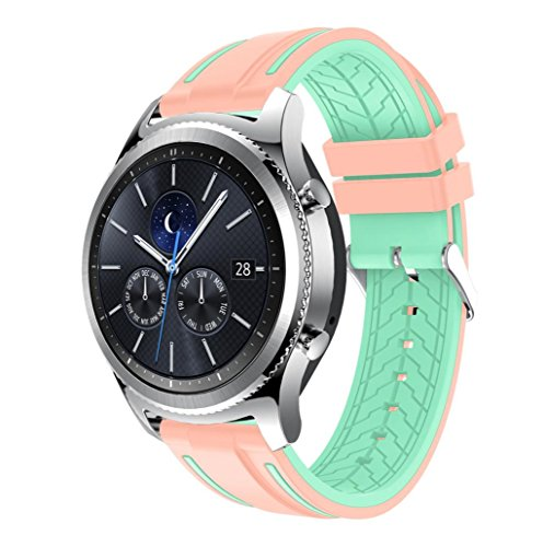 Price comparison product image For Samsung Gear S3 Classic, Outsta New Fashion Sports Silicone Bracelet Strap Band (H)