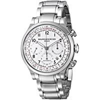 Baume & Mercier Men's Capeland Chronograph Stainless Steel Watch (White Dial)