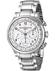 Baume & Mercier Mens BMMOA10061 Capeland Analog Display Swiss Automatic Silver Watch