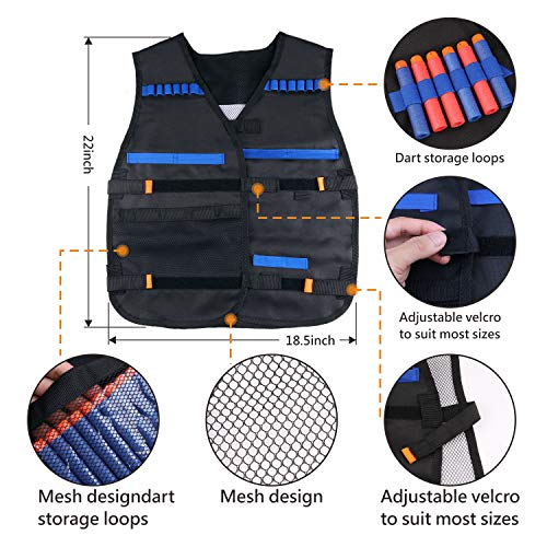 UWANTME Tactical Vest Kit 2 Pack for Nerf Guns N-Strike Elite Series by UWANTME (Image #2)