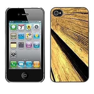 TECHCASE**Cubierta de la caja de protección la piel dura para el ** Apple iPhone 4 / 4S ** Wood Wall Fence Design Architecture Material Art