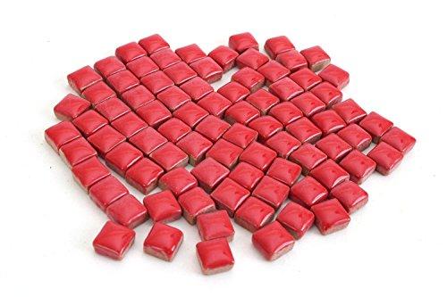 - Milltown Merchants 4/10 Inch (10 mm) Red Ceramic Mini Mosaic Tile, 3 Pound (48 oz) Bulk Assortment of Mosaic Tiles