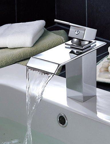 Zeitgenössische WasserfaÖl Waschbecken Wasserhahn (verchromt)
