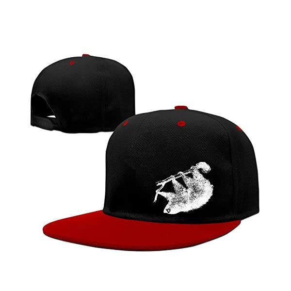 Sloth Pattern Graphic Print Mens Caps Customized Baseball Hip-Hop Caps Unisex Strapback Hat -
