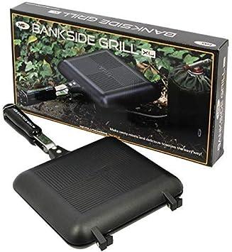 NGT Deluxe Pesca Camping al aire libre Caminar Senderismo Extra Grande XL Toastie Maker Compacto Sandwich Grill Cocina a elegir entre negro o plata