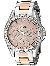 Women's ES4145 Riley Multifunction Two-Tone Stainless Steel Watch
