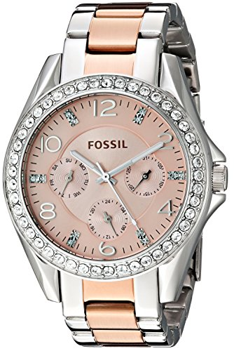 Fossil Women's ES4145 Riley Multifunction Two-Tone Stainless Steel (Fossil Multifunction Watch)