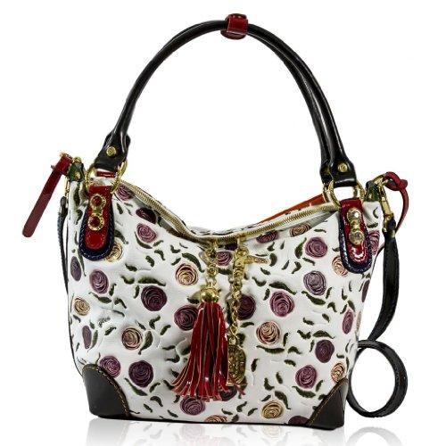 Marino Orlandi Italian Designer Handpainted Roses White Leather Crossbody  Bag - Buy Online in UAE.  5d297d8bb83f5