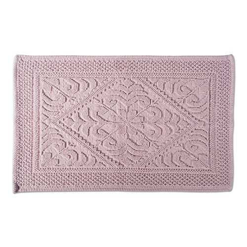 - DII Ultra Soft Luxury Spa Jacquard Damask Bath Mat Place in Front of Shower, Vanity, Bath Tub, Sink, and Toilet, 20 x 31